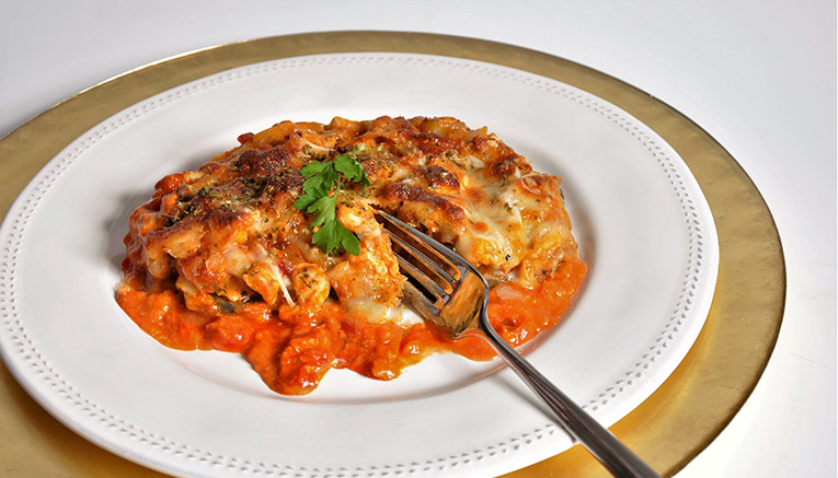 receta berenjena rellena pollo