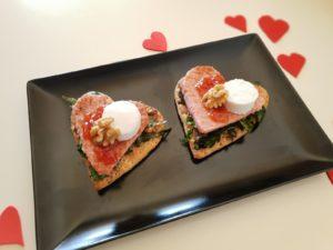 receta para san valentín