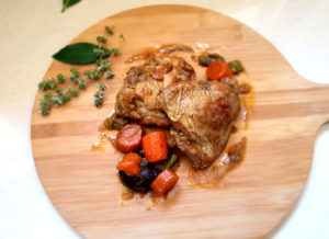 Pollo de La Abuela Julia estofado con zanahorias
