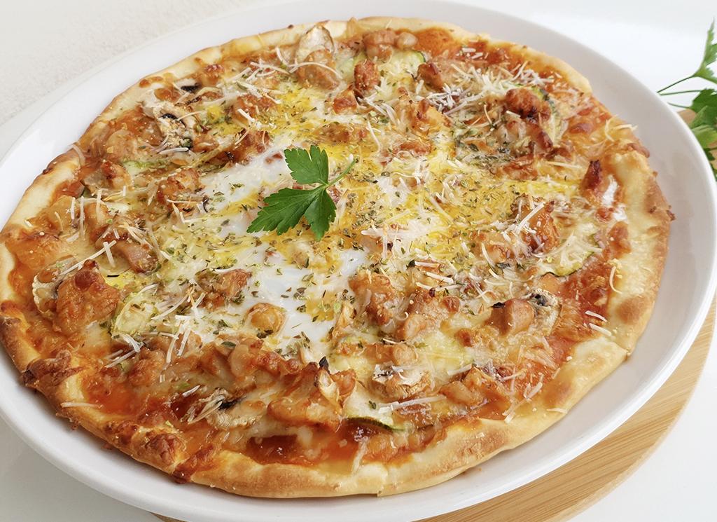 Pizza moruna de pollo